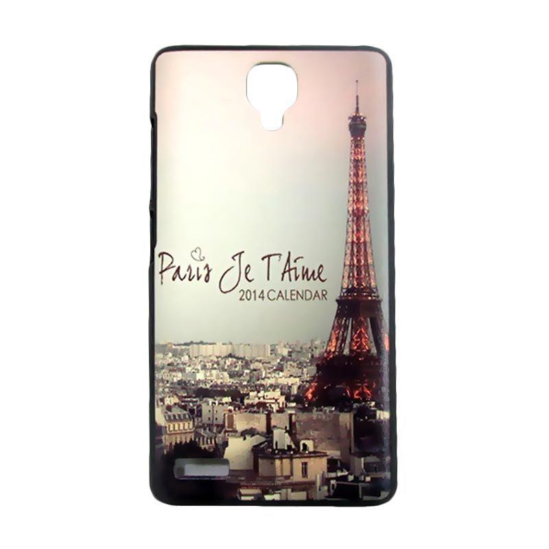 Kimi Custom Printing Vintage Paris Multicolor Casing for Xiaomi Redmi Note