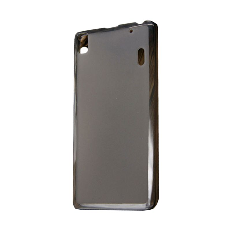 Kimi Note Ultra Thin Crystal TPU Pudding Original Clear Black Casing for Lenovo A7000 or K3
