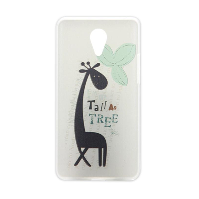Kimi Printing Cute Giraffe Putih Back Cover Casing for Xiaomi Redmi Note