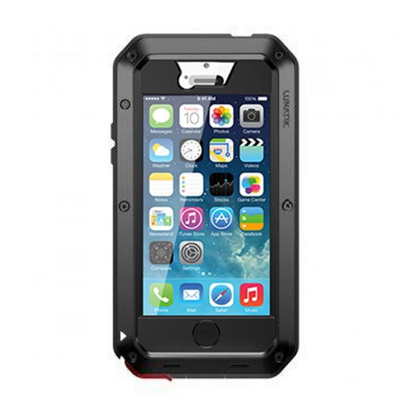 Lunatik Taktik Extreme Hitam Casing with Gorilla Glass for iPhone 4s