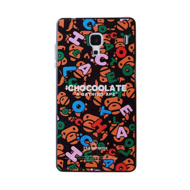 Max Korean Cute Chocolate Alphabeth Hardcase Casing for Xiaomi Redmi 1S