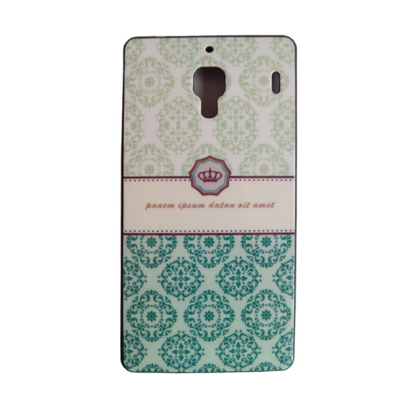 Max Korean Cute Green Crown Hard Casing for Xiaomi Redmi 1S