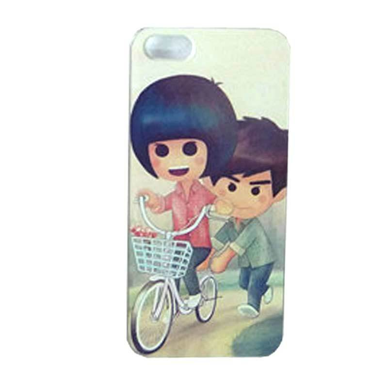 Max Custom Couple on Bike Ultra Fit Casing for iPhone 5 or 5S