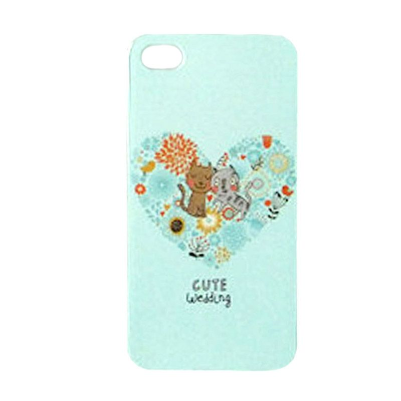 Max Custom Cute Wedding Cat Ultra Fit Casing for iPhone 4 or 4S