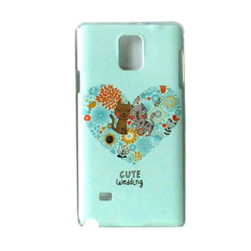 Max Custom Cute Wedding Cat Ultra Fit Casing for Galaxy Note 4