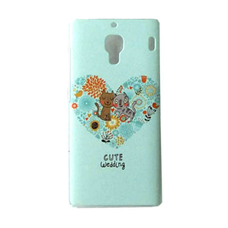 Max Custom Cute Wedding Cat Ultra Fit Casing for Xiaomi Redmi 1S