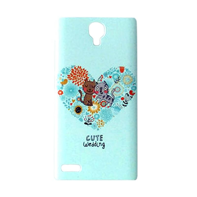 Max Custom Cute Wedding Cat Ultra Fit Hardcover Casing for Xiaomi Redmi Note