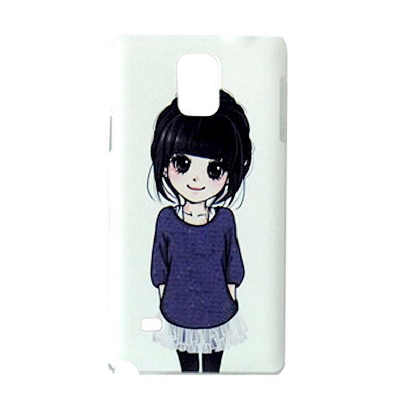 Max Custom Simple Cute Girl Ultra Fit Casing for Galaxy Note 4