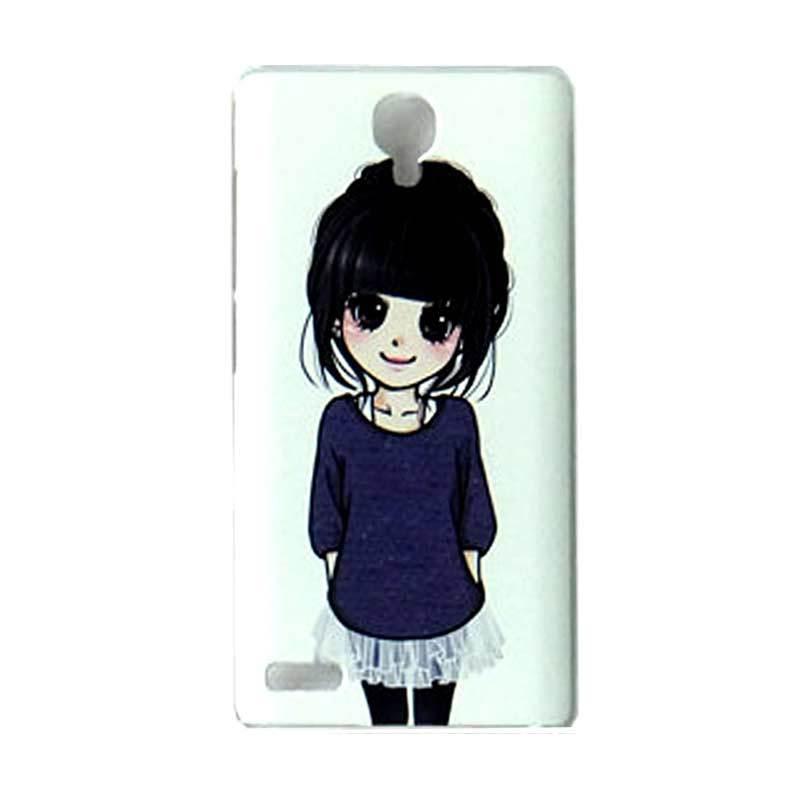 Max Custom Simple Cute Girl Ultra Fit Hardcover Casing for Xiaomi Redmi Note