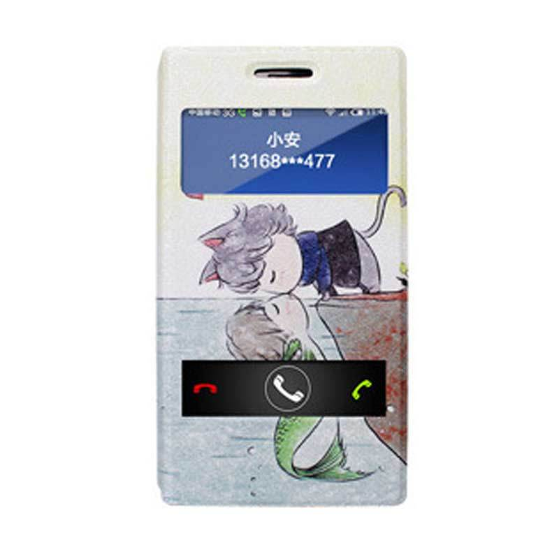 Max Korean Cute Soulmate Flip Cover Casing for Xiaomi Redmi Note