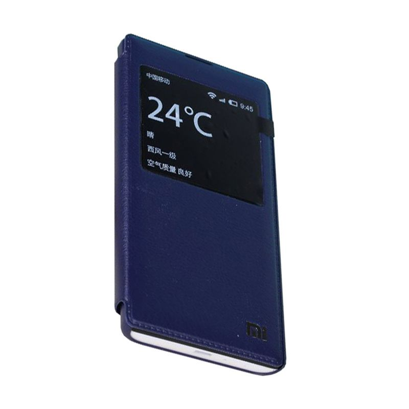 Max Leather Flip Navy Casing for Xiaomi Redmi 1S