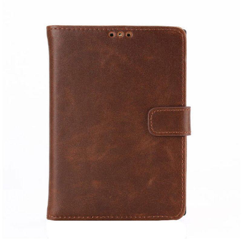 Max Leather Flip Wallet Fashion Dark Brown Casing for Blackberry Passport