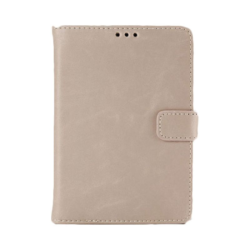 Max Leather Flip Wallet Fashion Light Brown Casing for Blackberry Passport
