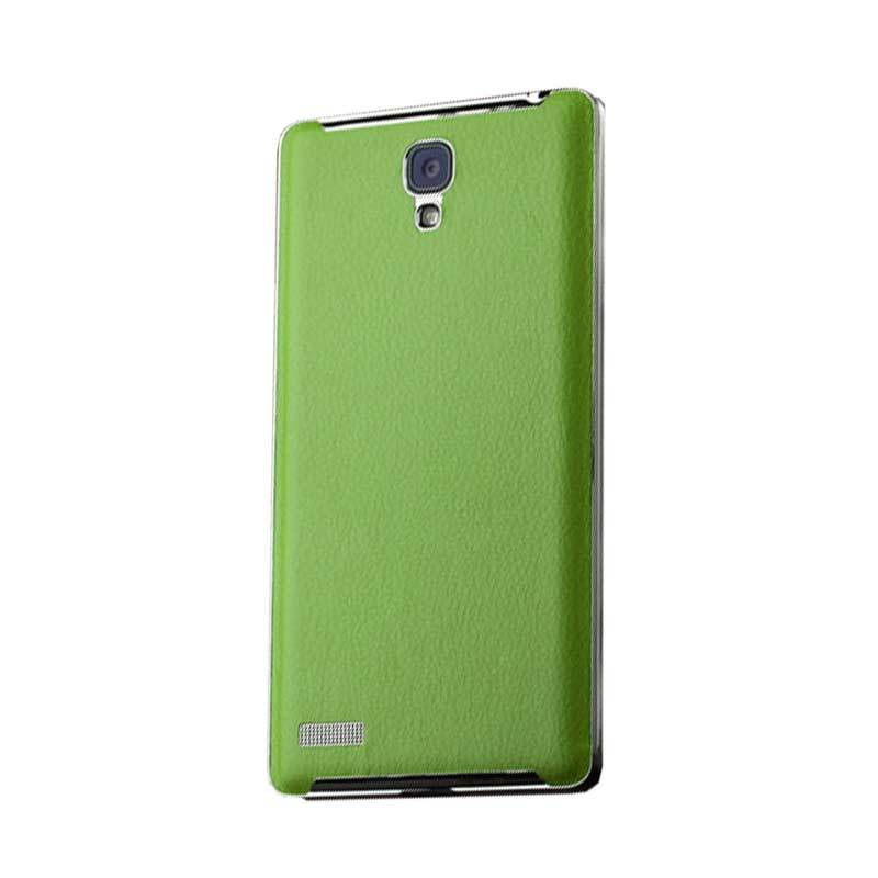 Max Leather Hard Back Green Casing for Xiaomi Redmi Note