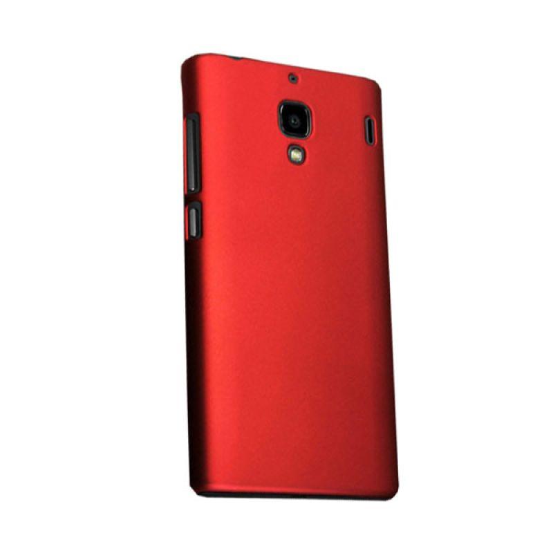 Max Premium Fashion Protective Fit Back Merah Casing for Xiaomi Redmi 1S