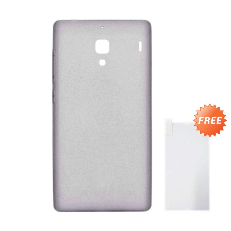 Max Premium Original Jelly Case Clear Grey Casing for Xiaomi Redmi 1S + Screen Guard