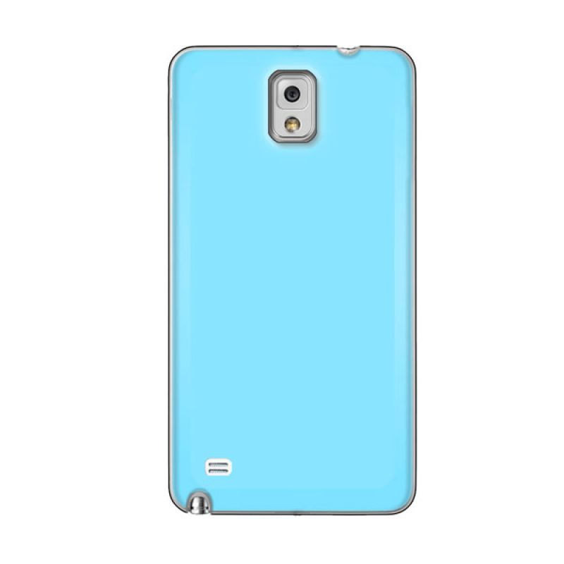 Max Premium Stylish Protective Ultra Back Baby Blue Casing for Galaxy Note 4