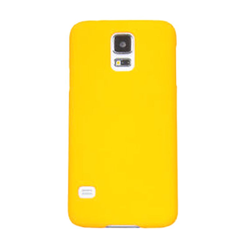Max Premium Stylish Protective Ultra Back Hardcase Kuning Casing for Samsung Galaxy S5