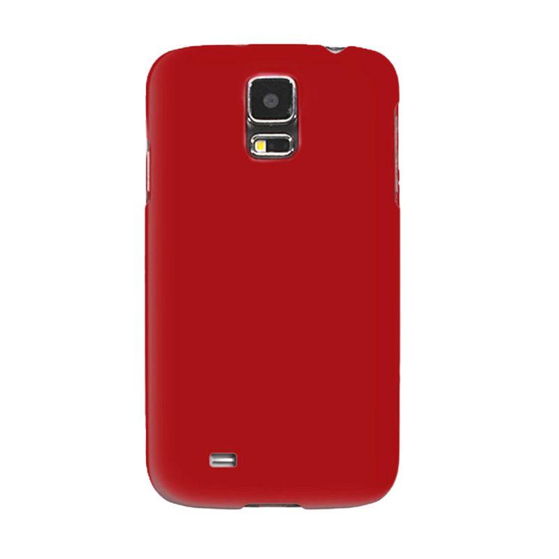 Max Premium Stylish Protective Ultra Back Hardcase Merah Casing for Samsung Galaxy S5