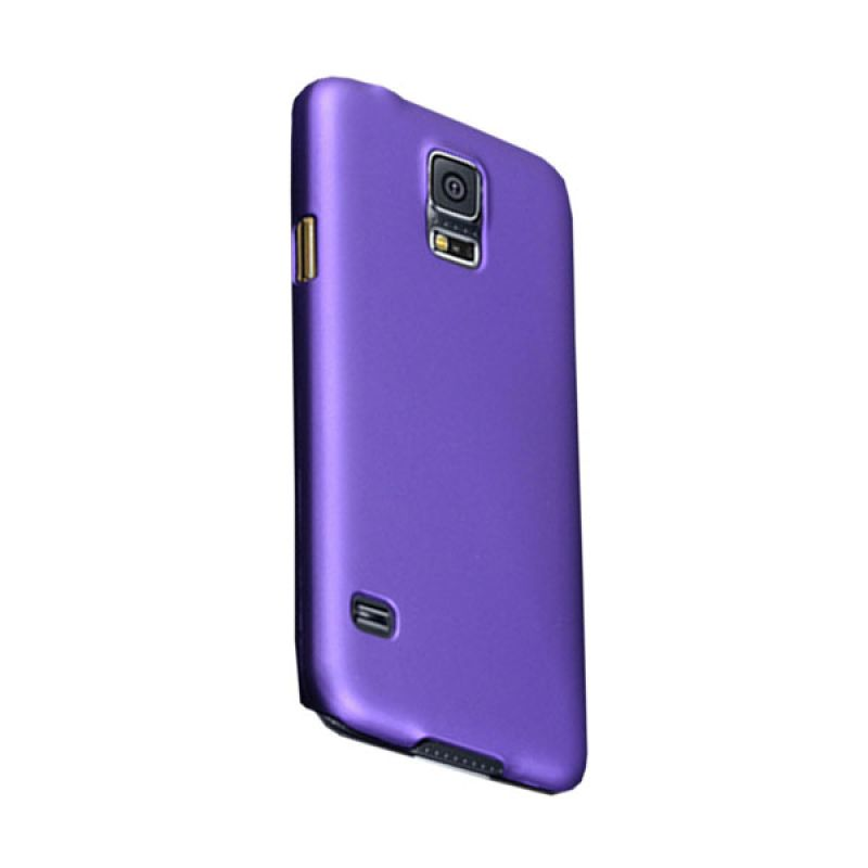Max Premium Stylish Protective Ultra Back Ungu Casing for Galaxy S5