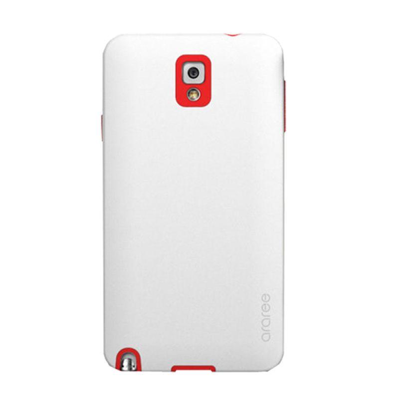 Araree Back Korean Putih Merah Casing for Samsung Galaxy Note 3