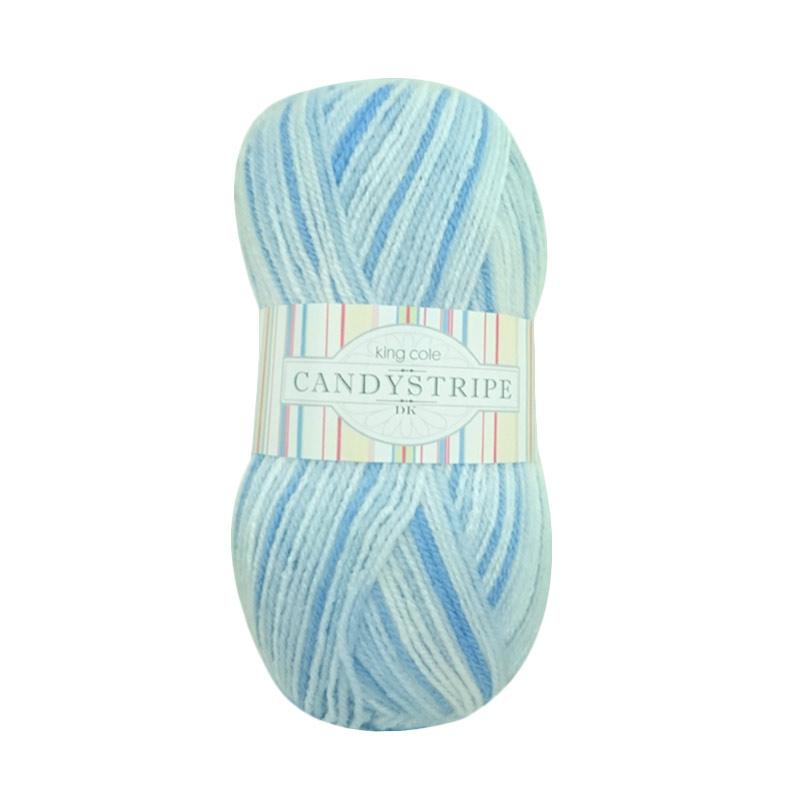 King Cole Candy Stripes Benang Rajut - Blueberry