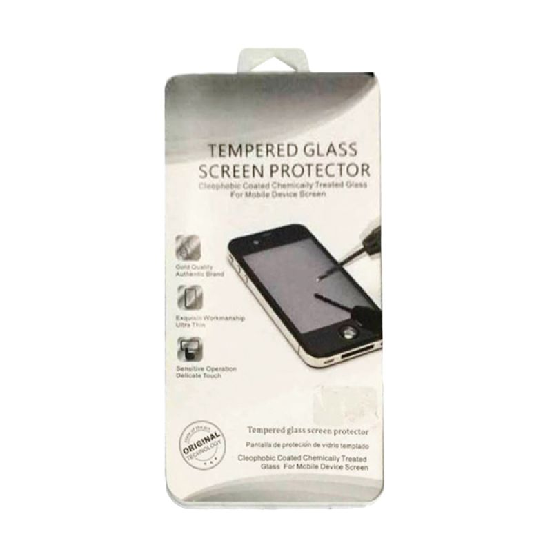 QCF Tempered Glass Screen Protector for Huawei Mate 7 Anti Gores Kaca / Temper Kaca - Clear