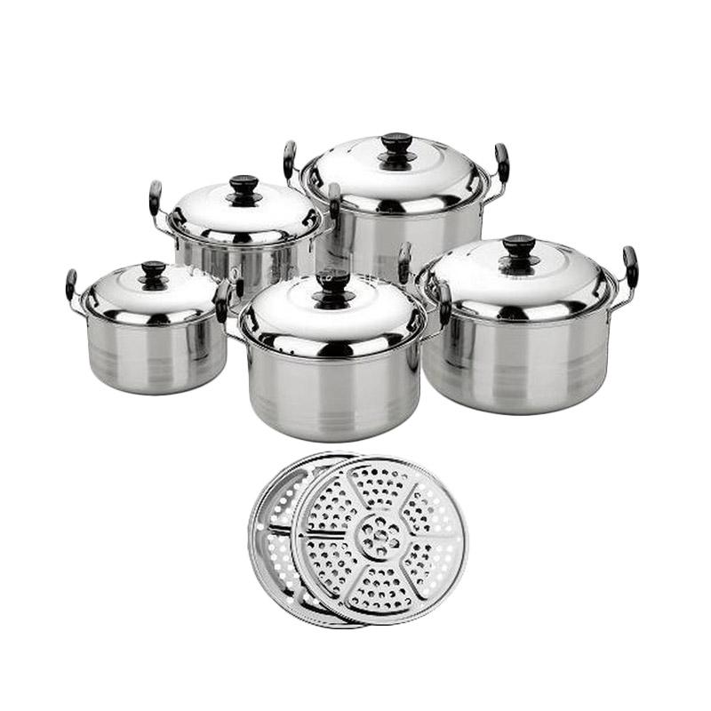 harga Kingko America High Pots Panci Set [Steamer/Kukusan/ Langseng] Blibli.com