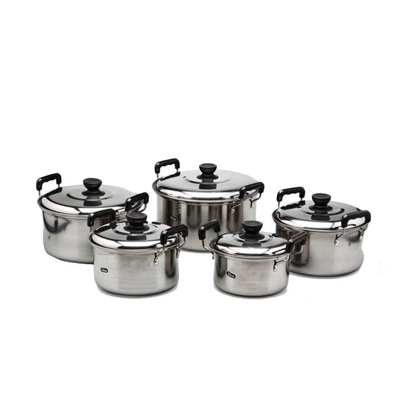 Kingko America High Pots Set Panci Silver [5 Pcs]