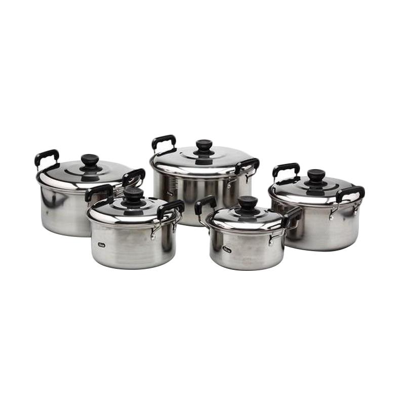 Kingko America High Pots Silver Set Panci [5 Pcs]