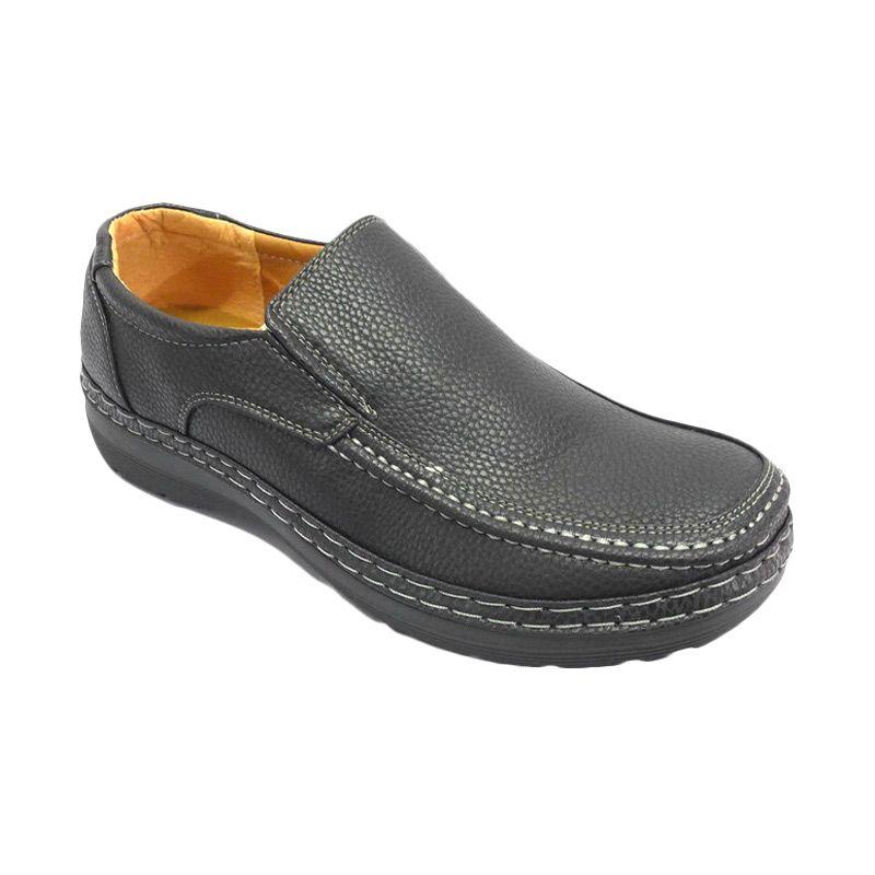 Kingland Benji 2577-2 Black Slip-on Loafer Sepatu Pria