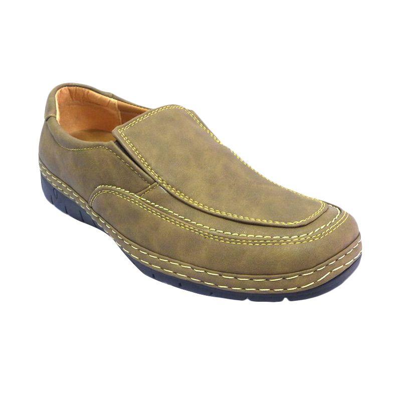 Kingland Oliver 9510 Camel Slip-on Loafer Sepatu Pria