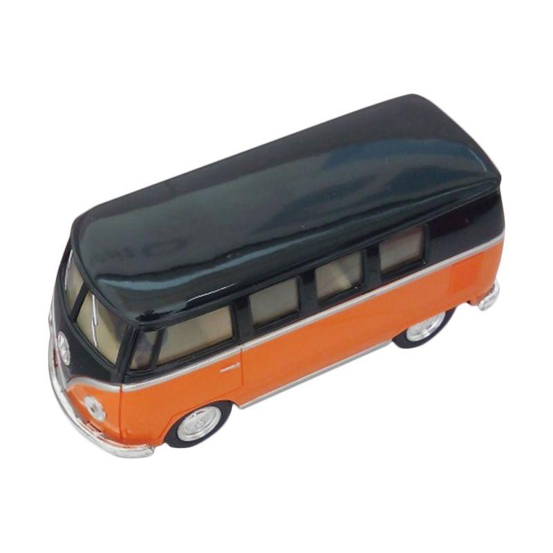 Kinsmart Volkswagen Classical Bus 1962 Black Orange Diecast [1:36]