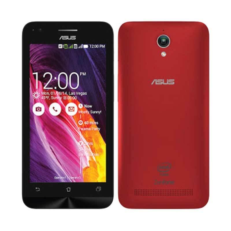 Asus Zenfone C ZC451CG Red Smartphone [RAM 1 GB/Garansi Resmi Asus]