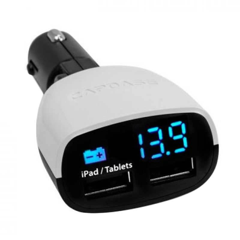 Capdase Dual USB Black White Monitor T2 Car Charger [3.4 Amp]