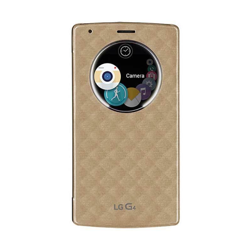 LG Quick Circle Gold Flip Case for LG G4 [Original]
