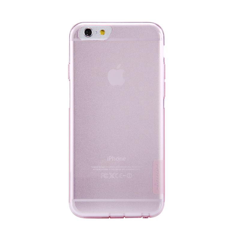 Nillkin Nature TPU Silicone Transparan Pink Casing for iPhone 6