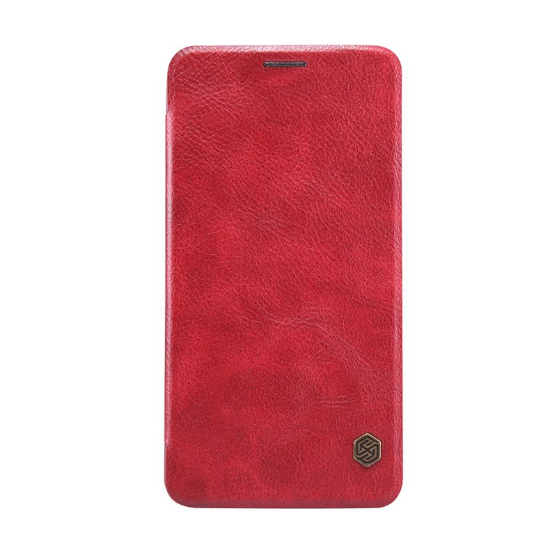 Nillkin Original Qin Leather Merah Casing for Asus Zenfone 2 ZE550ML or ZE551ML [5.5 Inch]