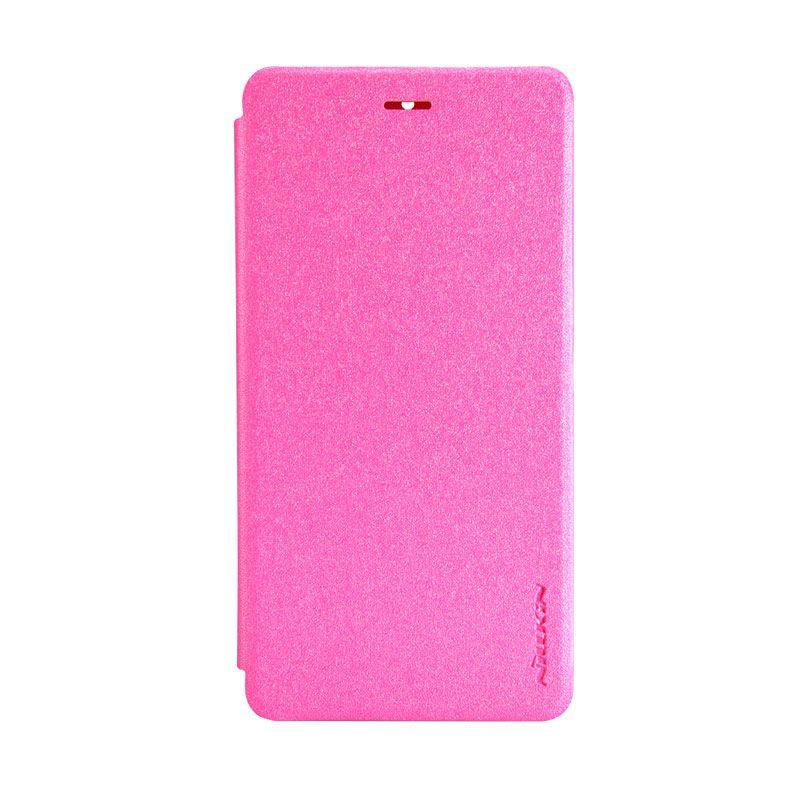 Nillkin Original Sparkle Leather Pink Casing for Xiaomi Mi 4 or Xiaomi Mi 4 LTE