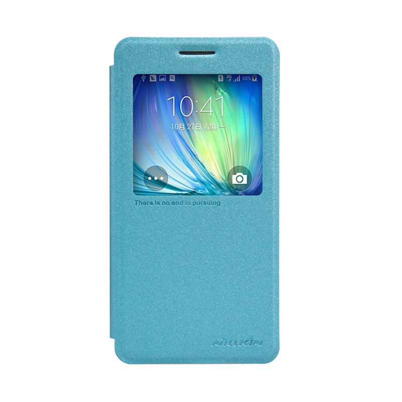 Nillkin Sparkle Leather Blue Casing For Samsung Galaxy A5