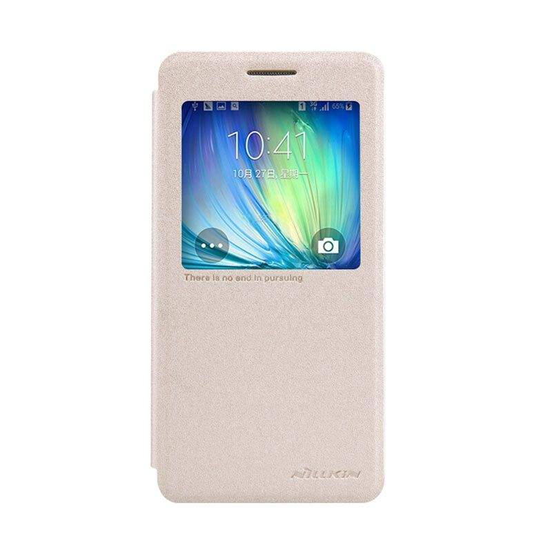 Nillkin Sparkle Leather Gold Casing For Samsung Galaxy A5