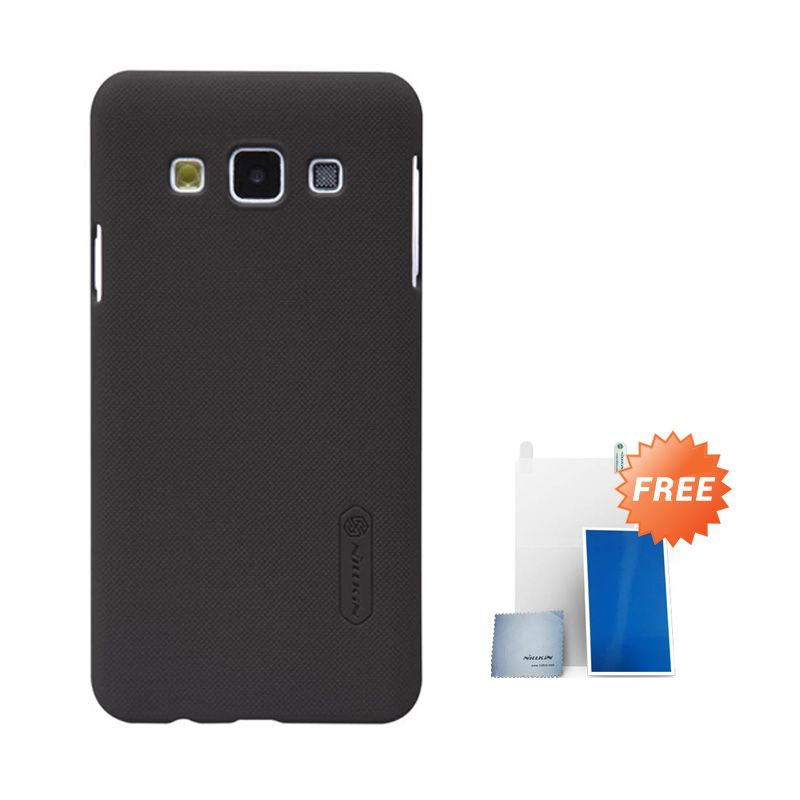 Nillkin Super Frosted Shield Coklat Casing for Samsung Galaxy A3 + Screen Protector