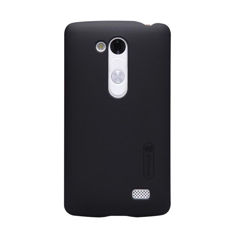 Nillkin Super Frosted Shield Hitam Casing For LG L Fino D295 + Screen Protector