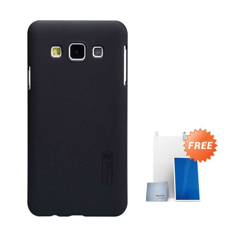 Nillkin Super Frosted Shield Hitam Casing For Samsung Galaxy A3 + Free Screen Protector
