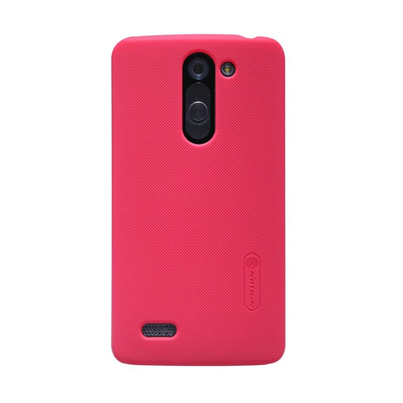 Nillkin Super Frosted Shield Merah Casing For LG L Bello D335 + Screen Protector
