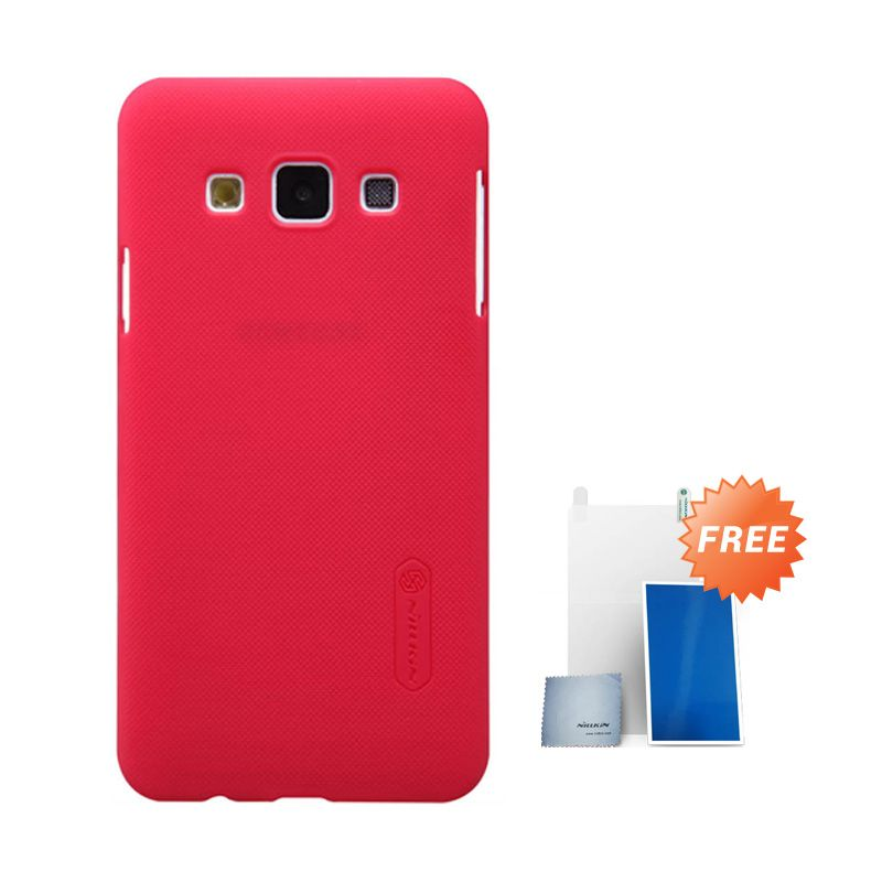 Nillkin Super Frosted Shield Merah Casing For Samsung Galaxy A3 + Screen Protector
