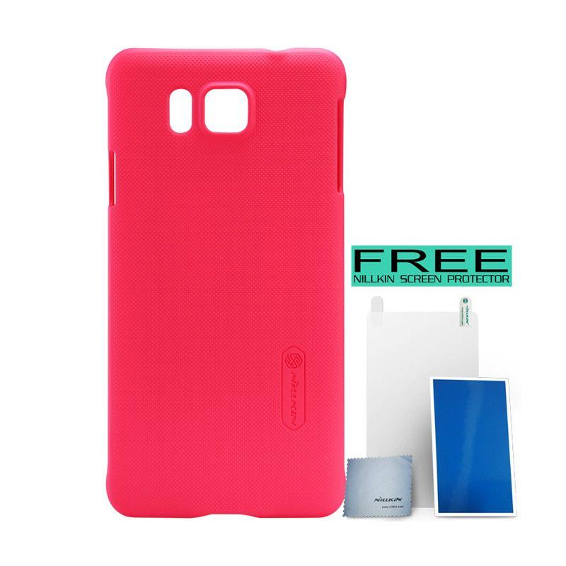 Nillkin Super Frosted Shield Red Casing for Samsung Galaxy Alpha G850F + Bonus