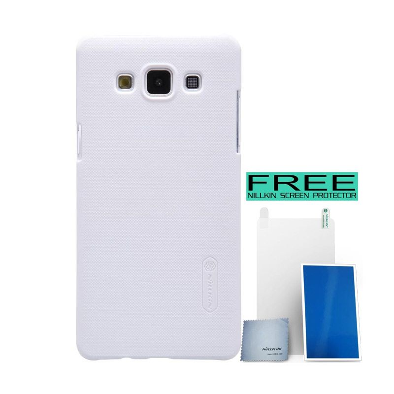 Nillkin Super Frosted Shield White Casing for Samsung Galaxy A5 + Bonus