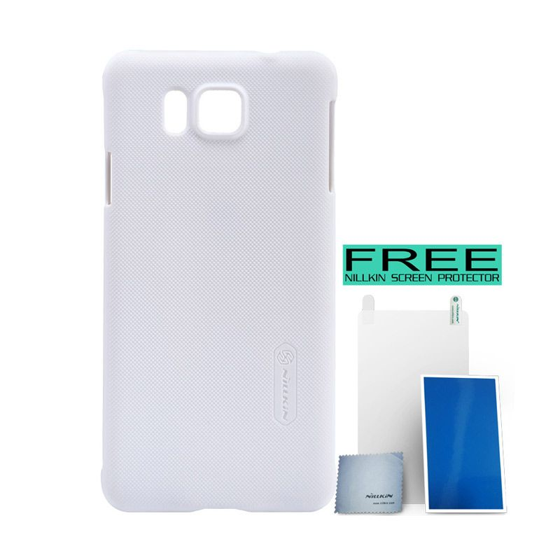 Nillkin Super Frosted Shield White Casing for Samsung Galaxy Alpha G850F + Bonus