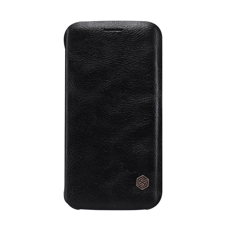 Nillkin Original Qin Black Leather Casing for Samsung Galaxy S6 Edge